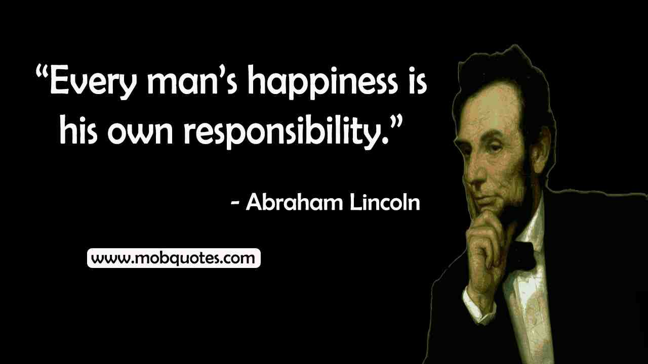 Abraham Lincoln quotes happiness