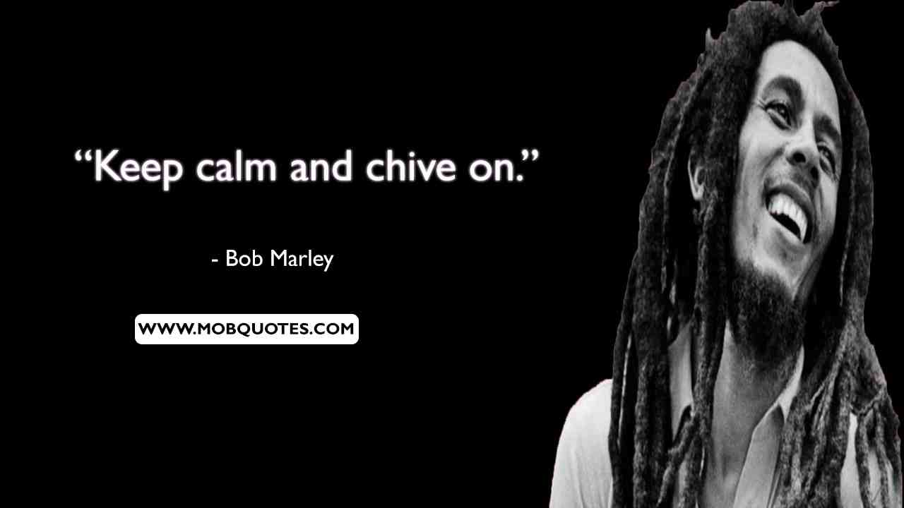 Bob Marley Quote About Riches
