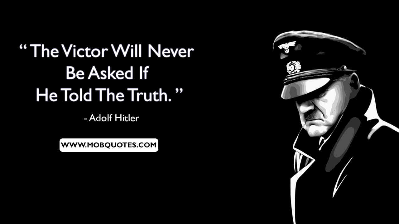 Hitler Quotes On War
