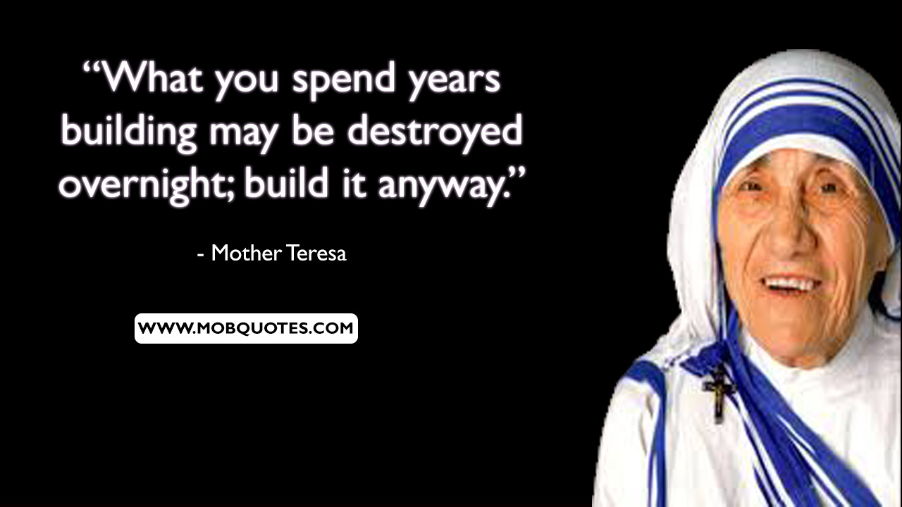 Mother Teresa Poverty Quotes