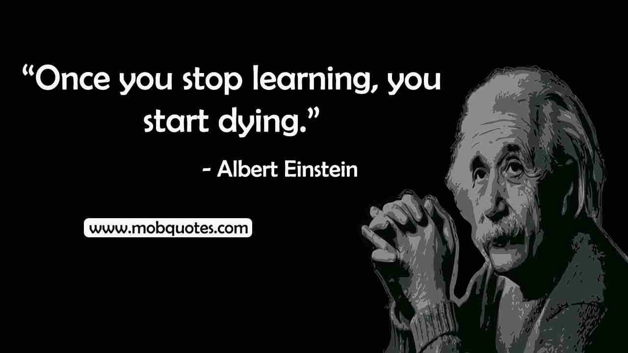 albert einstein death quote