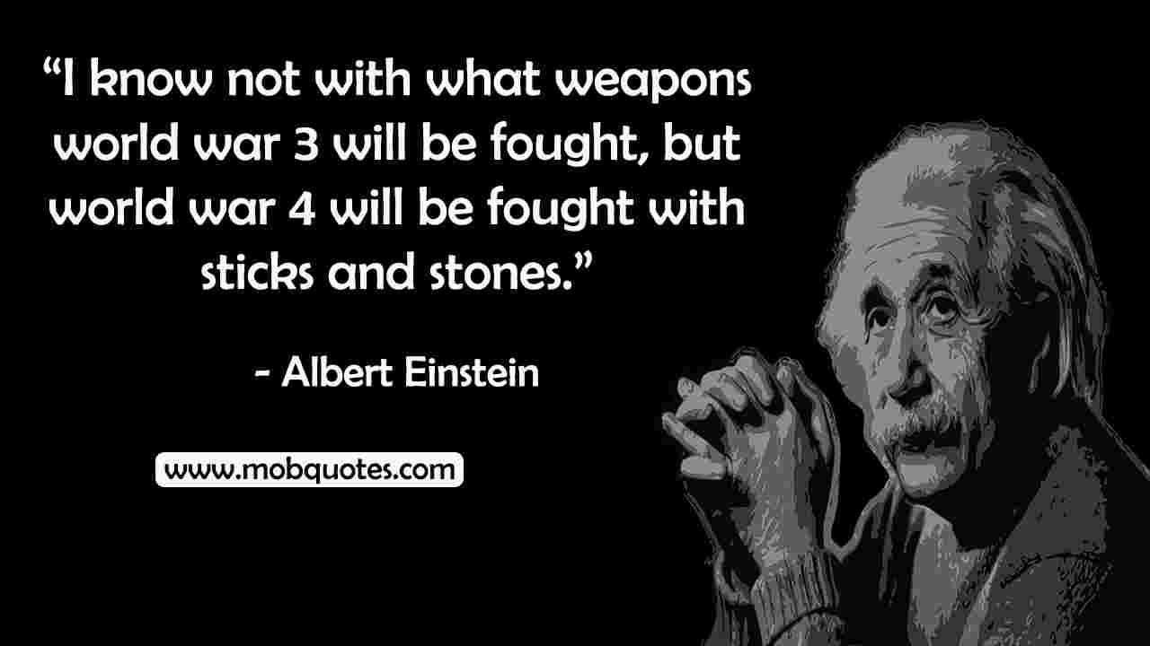 albert einstein quotes about war